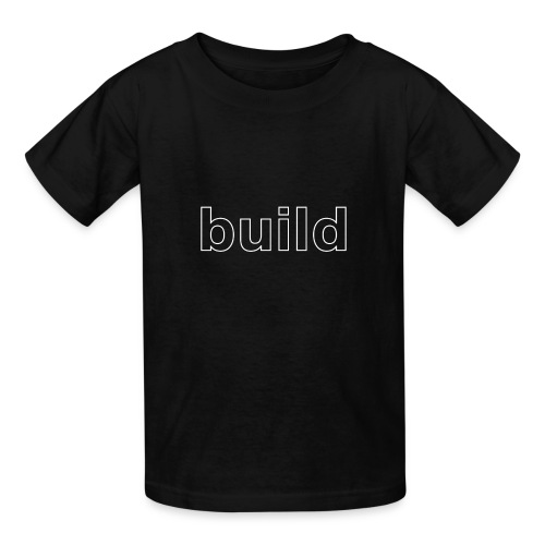 build logo (white for use on Dark Shirts) - Kids' T-Shirt