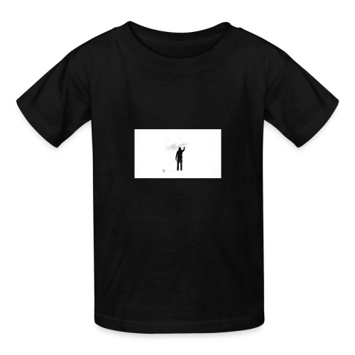 463034 men simple background digital art graffiti - Kids' T-Shirt