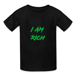 I AM RICH (WASTE YOUR MONEY) - Kids' T-Shirt