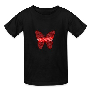 BUTTERFLY WORD RED - Kids' T-Shirt
