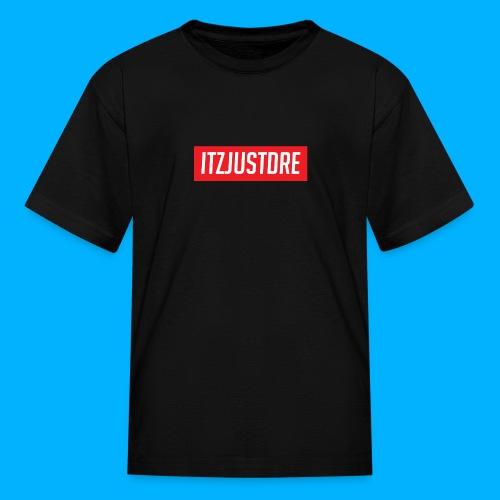 Red ItzJustDre Box Logo - Kids' T-Shirt