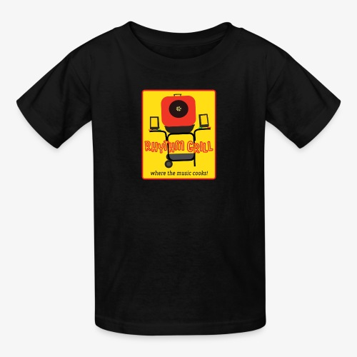 Rhythm Grill patch logo - Kids' T-Shirt