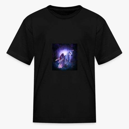 Fairy and her unicorn - Kids' T-Shirt