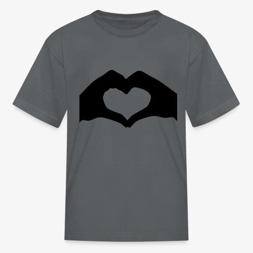 Silhouette Heart Hands | Mousepad - Kids' T-Shirt