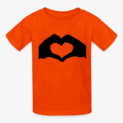 Silhouette Heart Hands | Mousepad - Kids' T-Shirt