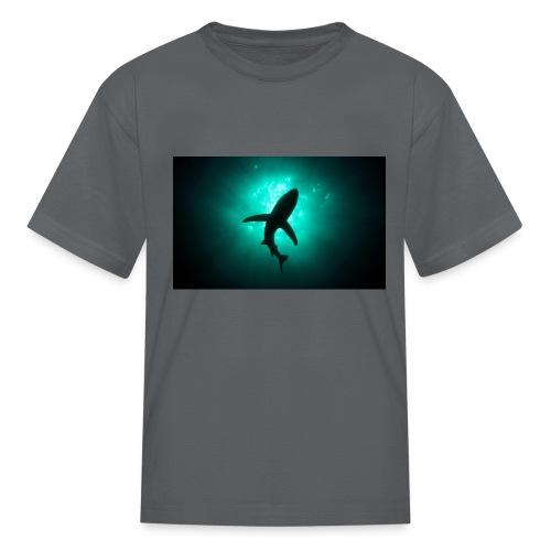 Shark in the abbis - Kids' T-Shirt