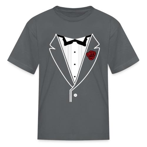 Tuxedo w/White Lapel - Kids' T-Shirt