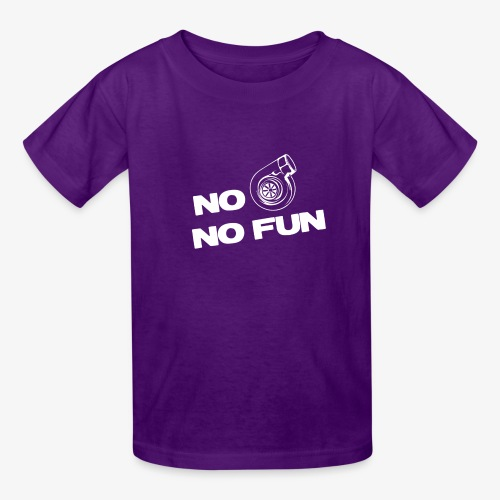 No turbo no fun - Kids' T-Shirt