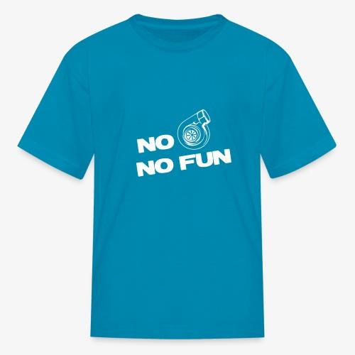 No turbo no fun - Kids' T-Shirt