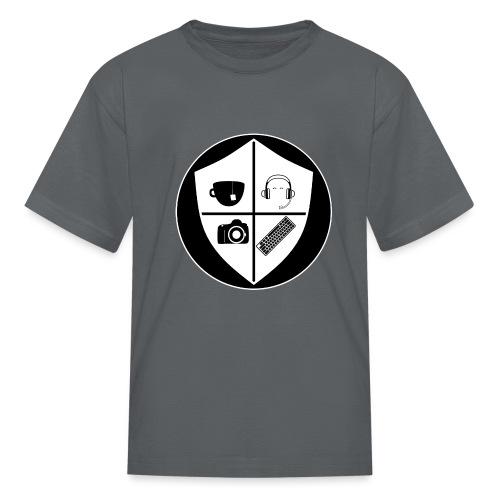 Punk Who Drinks Tea Crest (Inverted) - Kids' T-Shirt