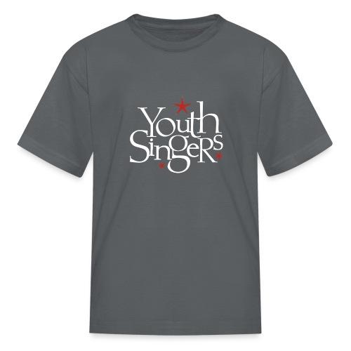 ysc logo words vertical white - Kids' T-Shirt