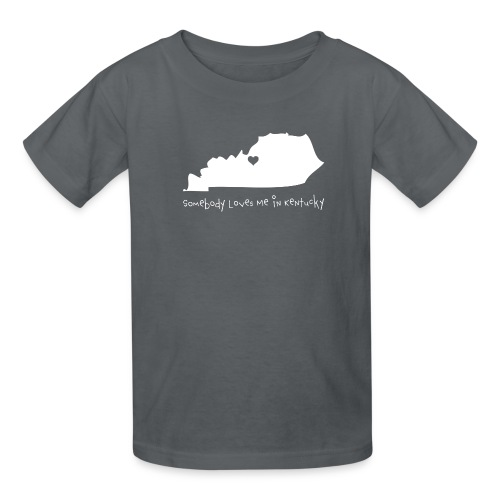 Somebody Loves Me in Kentucky White - Kids' T-Shirt