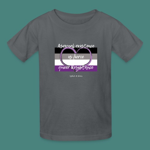 Asexual Existence is Fierce Queer Resistance - Kids' T-Shirt