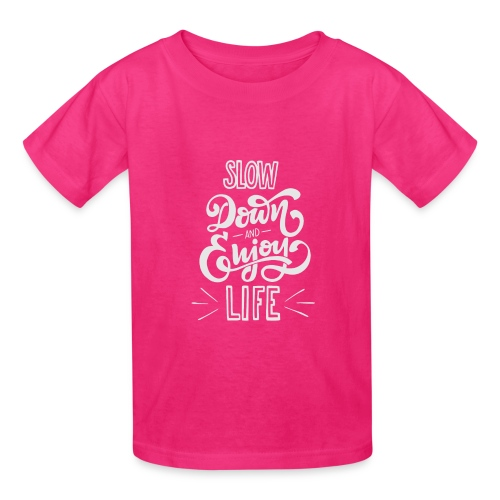 Slow down and enjoy life - Kids' T-Shirt