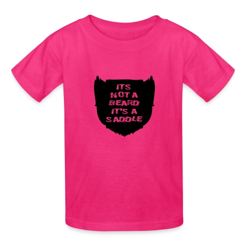 Its not a beard its a saddle - Kids' T-Shirt