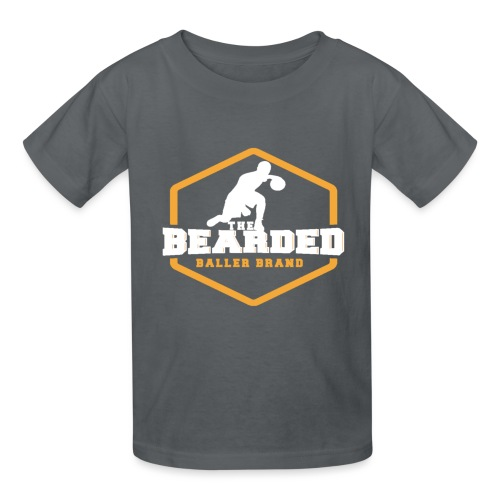 The Bearded Baller Brand White and Gold - Kids' T-Shirt