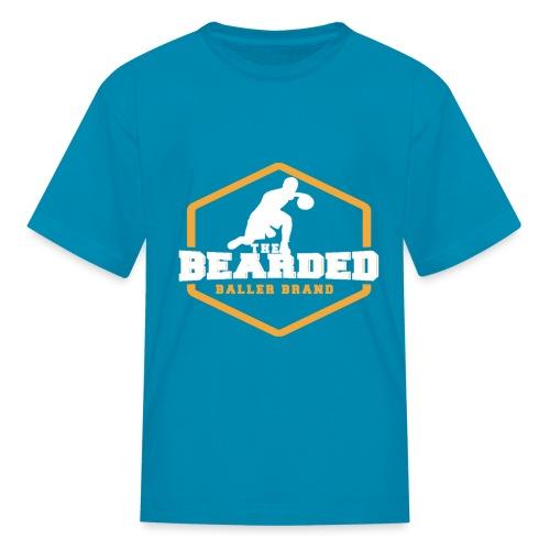 The Bearded Baller Brand White and Gold - Kids' T-Shirt