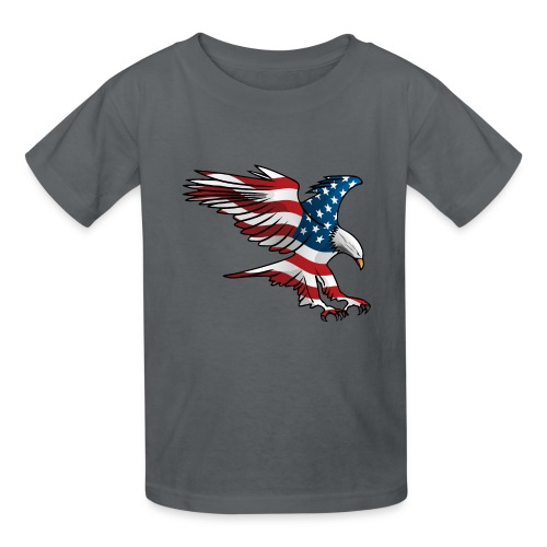 Patriotic American Eagle - Kids' T-Shirt