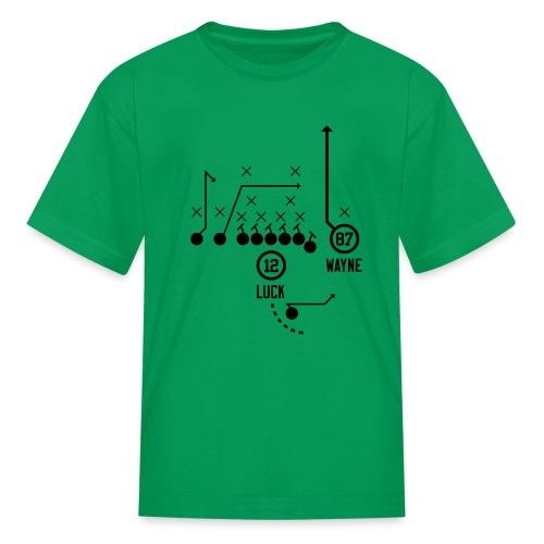 X O Andrew Luck to Reggie Wayne - Kids' T-Shirt