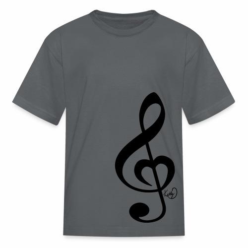 Treble Clef Heart - Kids' T-Shirt