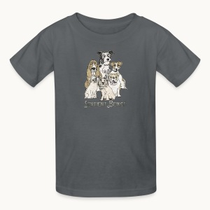 DOGS-SENTIENT BEINGS-white text-Carolyn Sandstrom - Kids' T-Shirt