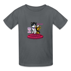 Allie, First at Last - Secret Cat with Trophy - Kids' T-Shirt