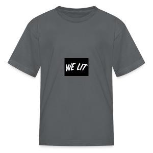 we lit merch - Kids' T-Shirt