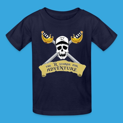 Pirate R for Adventure - Kids' T-Shirt