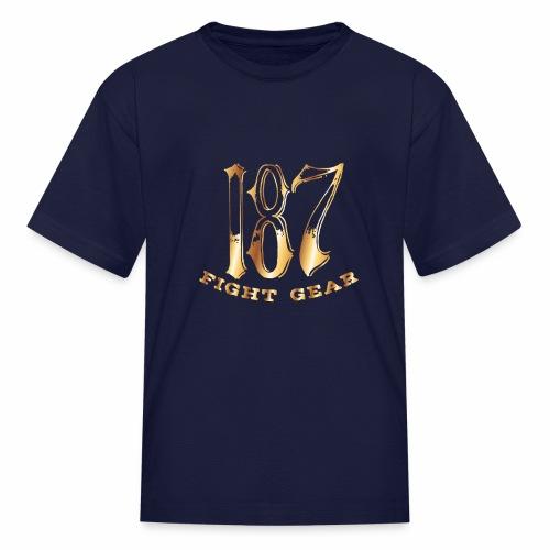 187 Fight Gear Gold Logo Street Wear - Kids' T-Shirt