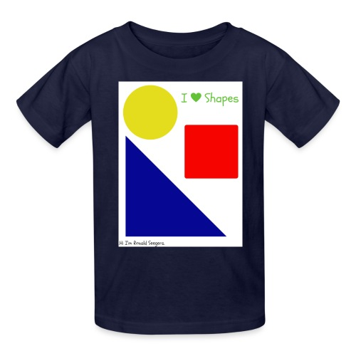 Hi I'm Ronald Seegers Collection-I Love Shapes - Kids' T-Shirt