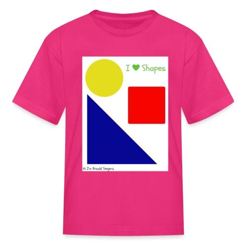 Hi I'm Ronald Seegers Collection-I Love Shapes - Kids' T-Shirt