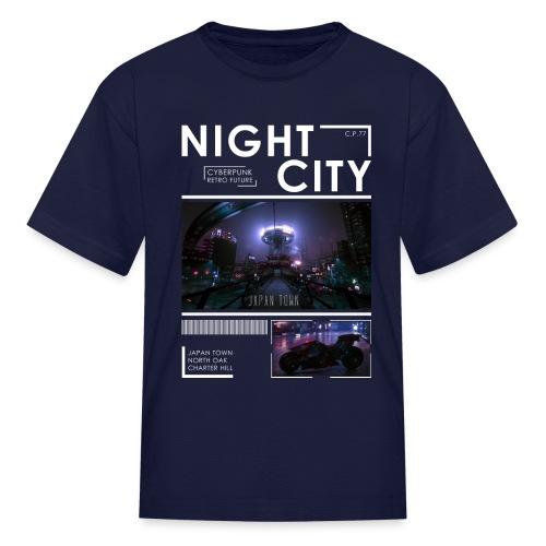 Night City Japan Town - Kids' T-Shirt
