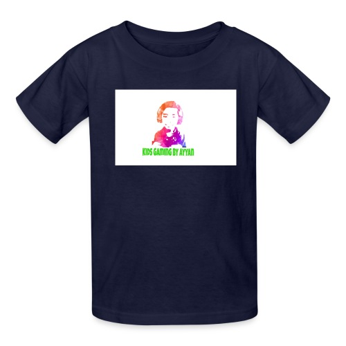 Kids t shirt of kids gaming by Ayyan logo - Kids' T-Shirt