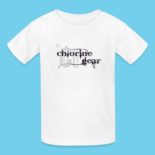 Chlorine Gear Textual stacked Periodic backdrop - Kids' T-Shirt