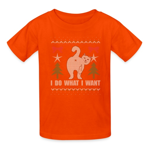 Ugly Christmas Sweater I Do What I Want Cat - Kids' T-Shirt