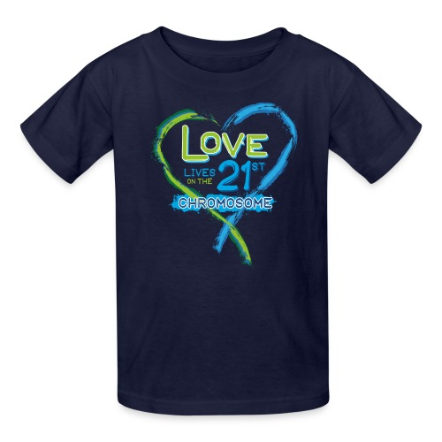 Down Syndrome Love (Blue) - Kids' T-Shirt
