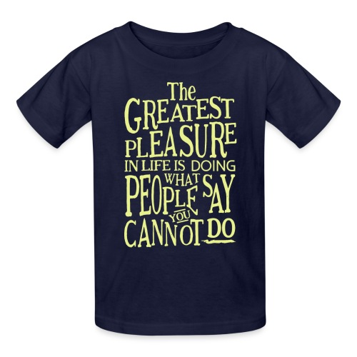 The Greatest Pleasure - Kids' T-Shirt