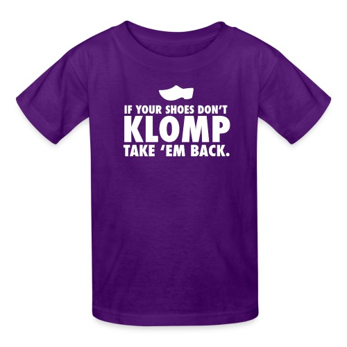 08 Klomp white lettering - Kids' T-Shirt