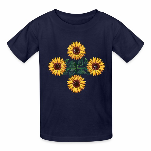 Night Blooms from the Sun - Kids' T-Shirt