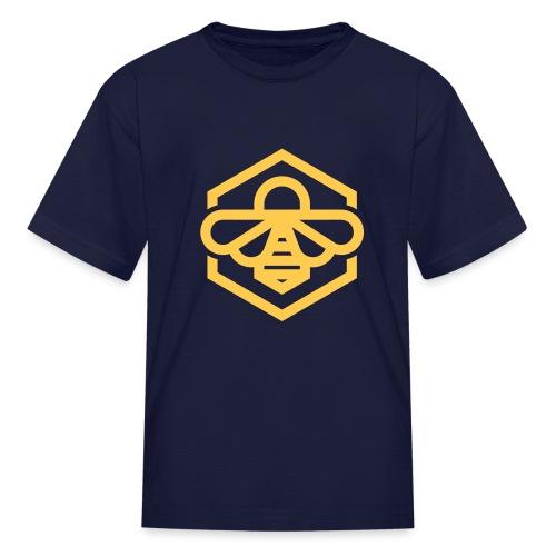 bee symbol orange - Kids' T-Shirt