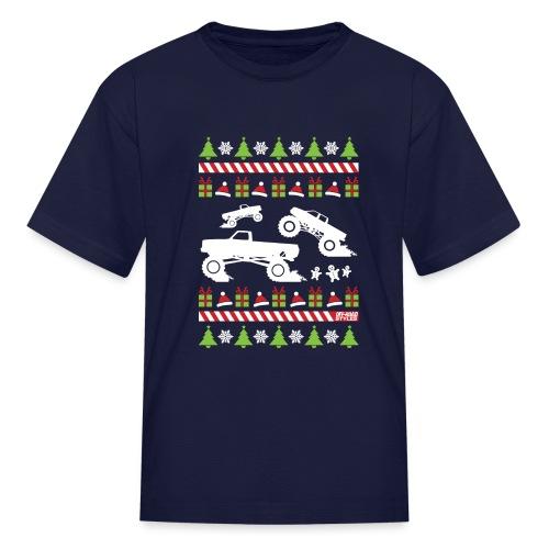 Mud Truck Ugly Christmas - Kids' T-Shirt