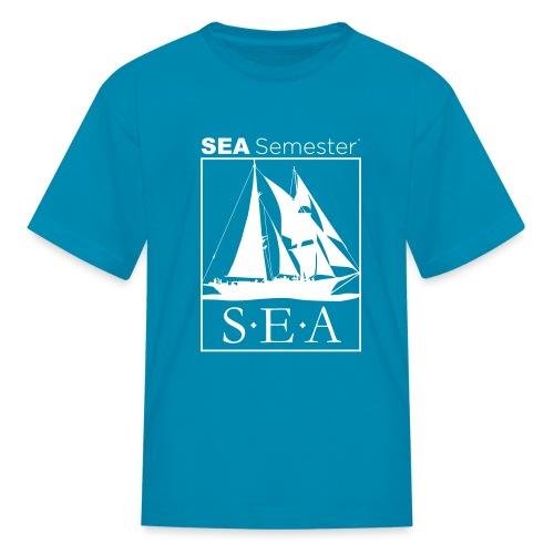 SEA_logo_WHITE_eps - Kids' T-Shirt