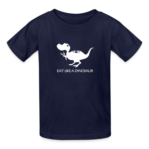 eatlikeadinoblackshirt - Kids' T-Shirt