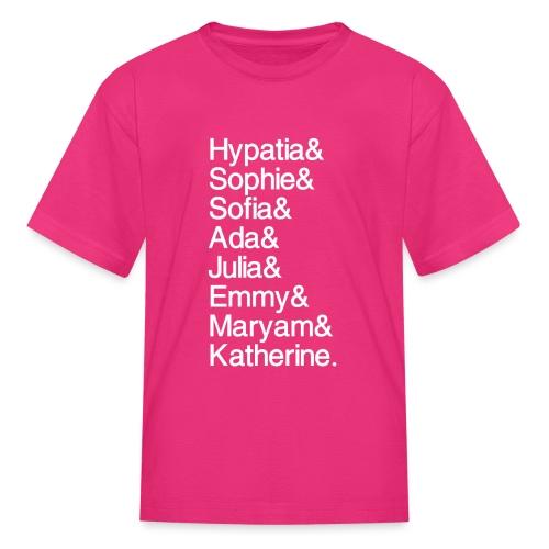Math Gals OG w/ #MathGals hashtag - Kids' T-Shirt