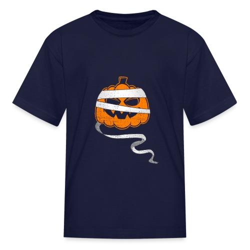Halloween Bandaged Pumpkin - Kids' T-Shirt