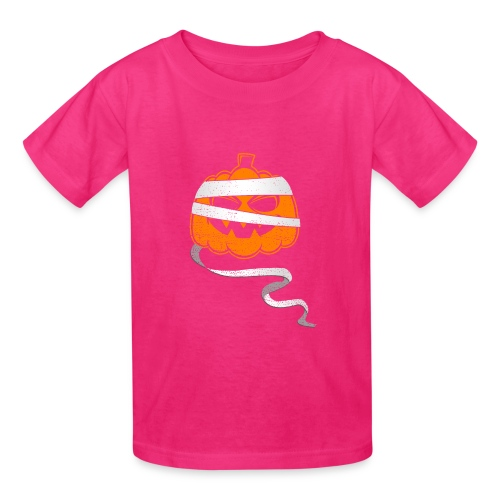 Halloween Bandaged Pumpkin - Kids' T-Shirt