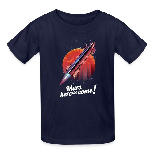 Mars Here We Come - Dark - Kids' T-Shirt