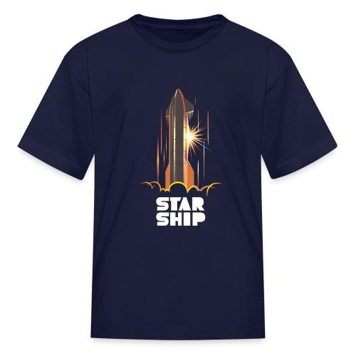 Star Ship Mars - Dark - Kids' T-Shirt