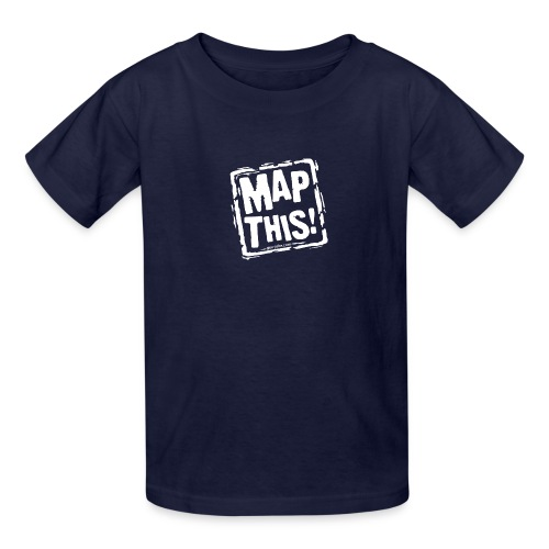 MapThis! White Stamp Logo - Kids' T-Shirt