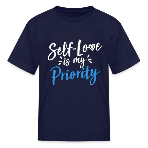 Self-Love is My Priority Shirt Design - Kids' T-Shirt